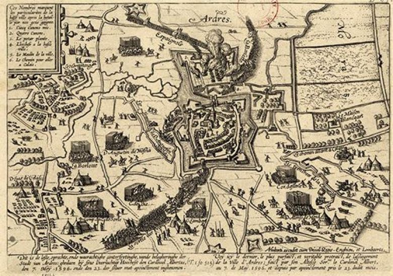 Plan des fortifications d'Ardres en 1596. / © BIBLIOTHEQUE NATIONALE DE FRANCE